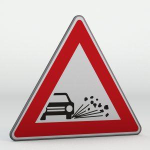 Dopravní značka A17 | Odlétávající štěrk