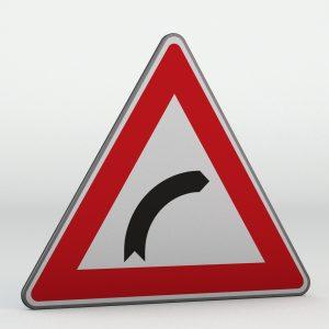 Dopravní značka A1a | Zatáčka vpravo
