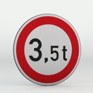 Dopravní značka B13 | Zákaz vjezdu vozidel, jejichž okamžitá hmotnost přesahuje vyznačenou mez
