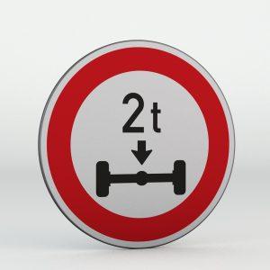 Dopravní značka B14 | Zákaz vjezdu vozidel, jejichž okamžitá hmotnost připadající na nápravu přesahuje vyznačenou mez