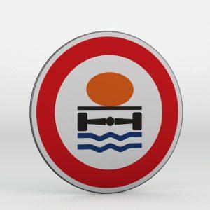 Dopravní značka B19 | Zákaz vjezdu vozidel přepravujících náklad, který může způsobit ohrožení životního prostředí