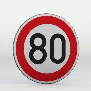 Dopravní značka B20a | Nejvyšší dovolená rychlost
