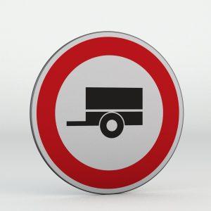 Dopravní značka B33 | Zákaz vjezdu motorových vozidel s přípojným vozidlem