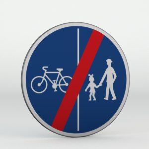 Dopravní značka C10b | Konec stezky pro chodce a cyklisty dělené