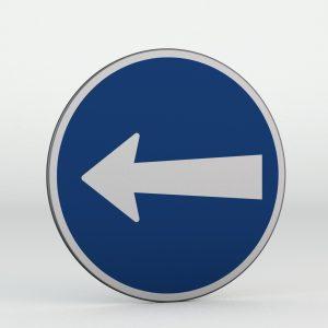 Dopravní značka C3b | Přikázaný směr jízdy zde vlevo