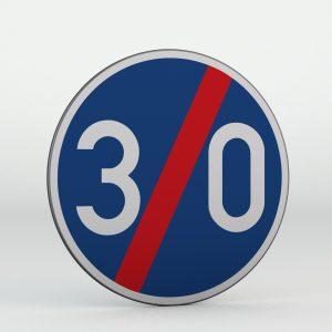 Dopravní značka C6b | Konec nejnižší dovolené rychlosti