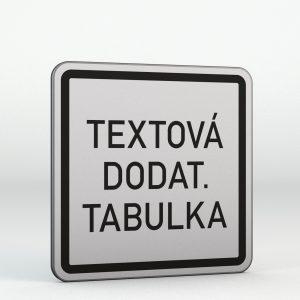 Dodatková tabulka E13 | Text nebo symbol