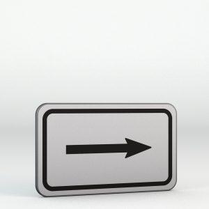Dodatková tabulka E7b | Směrová šipka pro odbočení