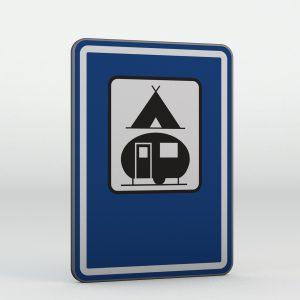 Dopravní značka IJ14c | Tábořiště pro stany a pro obytné přívěsy