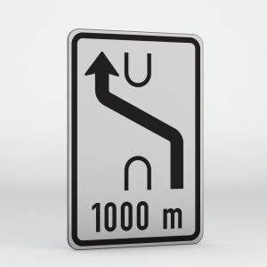 Dopravní značka IS10a | Návěst změny směru jízdy