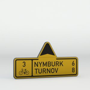 Dopravní značka IS19d | Směrová tabule pro cyklisty