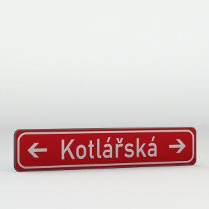 Dopravní značka IS22f | Označení názvu ulice nebo jiného veřejného prostranství