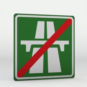 Dopravní značka IZ1b | Konec dálnice