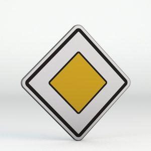 Dopravní značka P2 | Hlavní pozemní komunikace